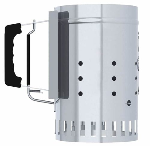 Char-Griller Chimney Charcoal Lighter with Easy Release Trigger - Best BBQ Grill Lighter