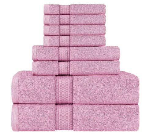 2. Utopia Ring-Spun Cotton Bath Towels Set