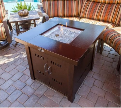 3. AZ Patio Heaters Propane Square Fire Pit Table with 40,000BTU