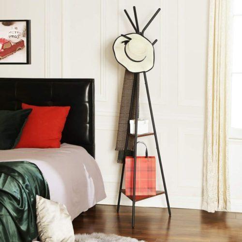 3. Songmics Hall Tree Standing Coat Rack with Shelf