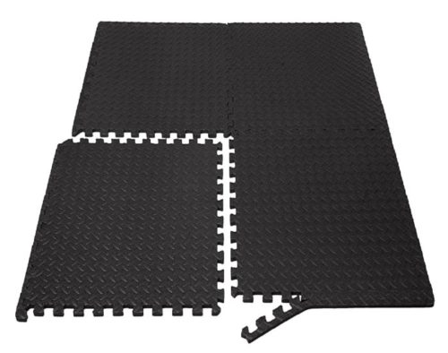 4. AmazonBasics Exercise Training Puzzles Mat with Foam Interlock Tiles For Personal Gym Floor Mats