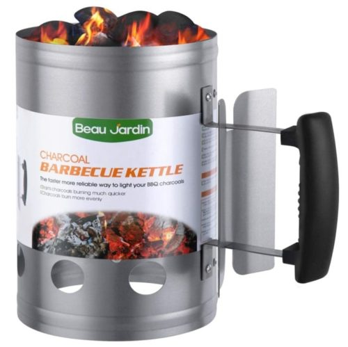 BEAU JARDIN Galvanized Steel Chimney Charcoal Lighter - Best Charcoal Chimney Starter