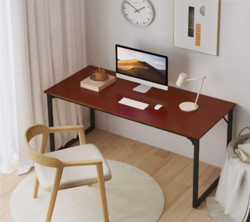 4. Coleshome Sturdy Simple Modern Computer Desk - Long Desk for Home Office