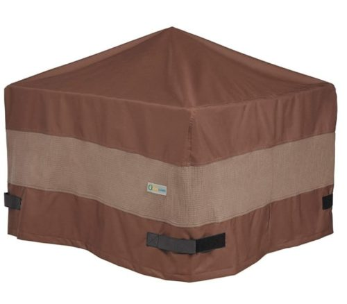 4. Duck Covers Waterproof Square Fire Pit Cover