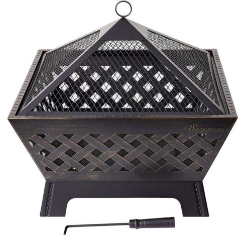 4. Landmann Barrone Square Fire Pit Table