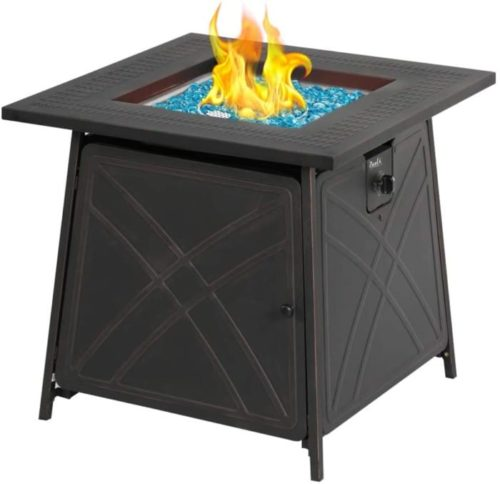 5. BALI OUTDOORS LP Gas Square Fire Pit Table