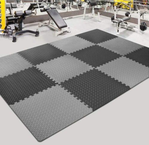 5. Innhom Personal Gym Floor Mats Exercise Interlocking Foam Training Puzzles Mat