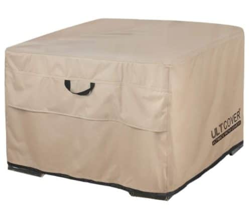5. ULTCOVER Patio Square Fire Pit Table Cover