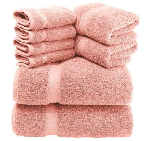 5. White Classic Luxury Bath Towels Set with Premium Hotel Quality Cotton