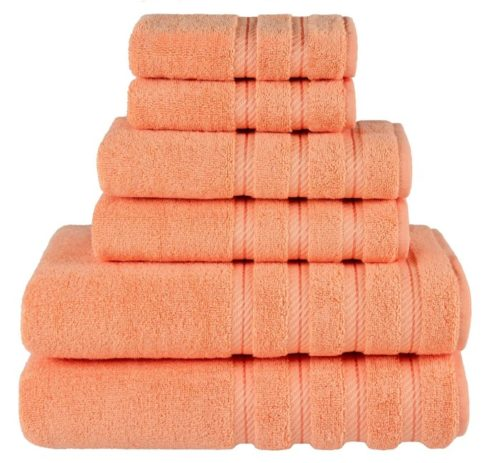 6. American Soft Linen 100% Cotton Turkish Bath Towels Set for Bathroom and Kitchen