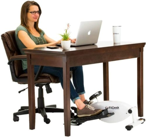 6. FitDesk Under Desk Cycle Exercise Peddler with Magnetic Resistance and Adjustable Tension