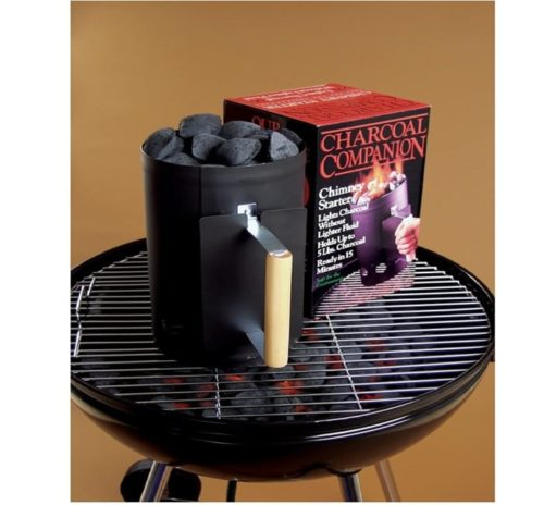 Charcoal Companion Black Chimney Charcoal Lighter - Grill Lighter