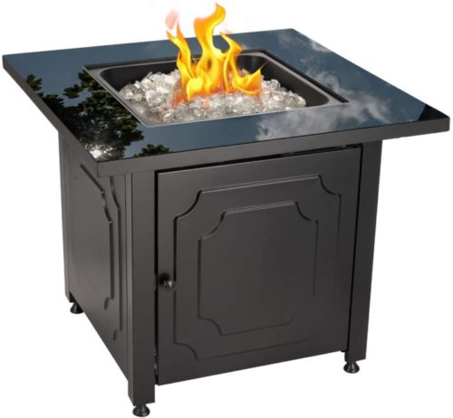 7. Endless Summer Outdoor Black Square Fire Pit