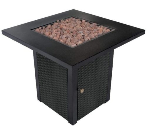 8. LEGACY HEATING Square Gas Fire Pit Table with Lid