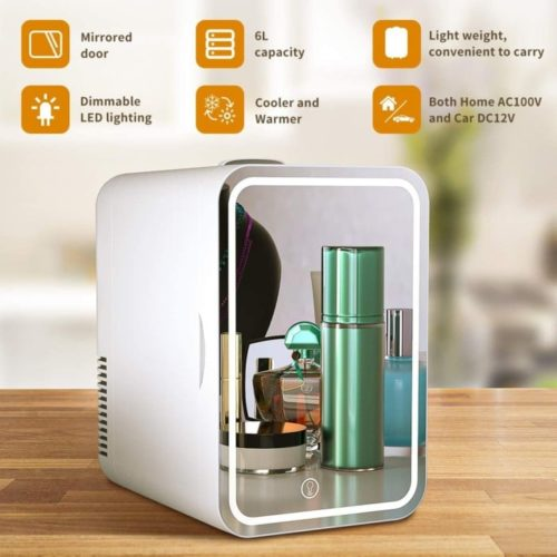 9. COOSEON Beauty Thermoelectric Portable Mini Fridge - Mini Cooler Fridge