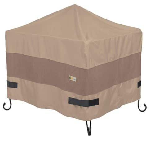9. Duck Covers Square Fire Pit Cover with Waterproof