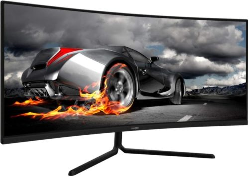 09. Viotek Ultrawide Curved Newegg Monitor with Dynamin Color, Deep Curvature Ultra Bright 34 Monitor