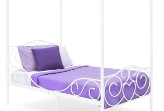 1. Best Choice Products White Twin Bed Frame with Headboard and Heart Scroll Design - Twin Metal Bed Frame