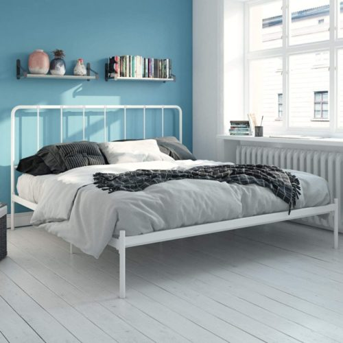 LikeHome Aaron Twin Metal Bed Frame with Traditional Trundle