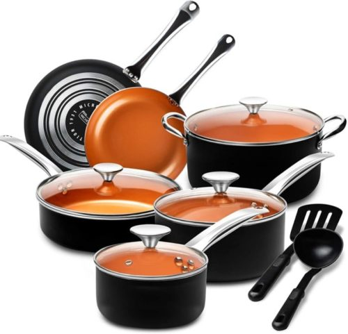 10. MICHELANGELO Pots and Pans Set