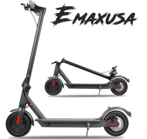 Emaxusa Folding Electric Scooter for Heavy Adults with UL Certified and Solid Tires