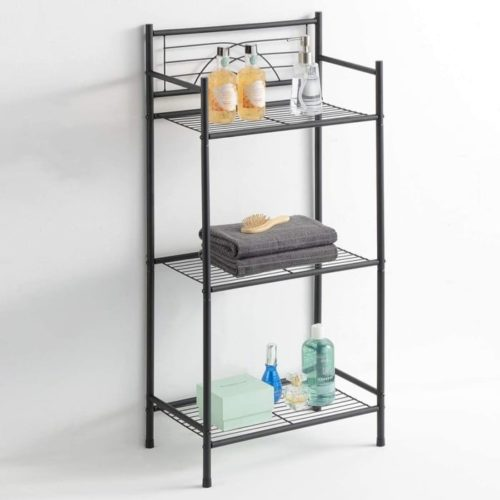 12. LEEDA Freestanding Metal Bathroom Towel Storage Shelves