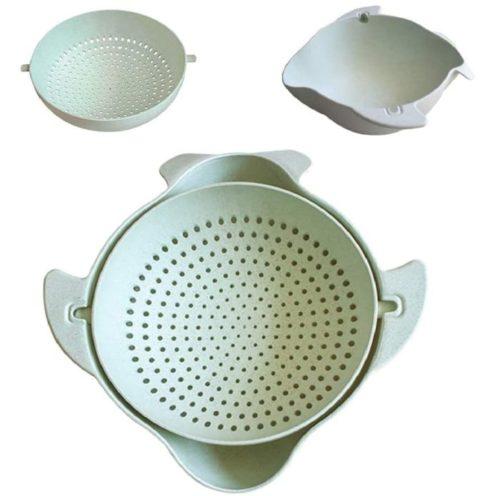Lidard Kitchen Plastic Colander and Bowl Sets - Plastic Strainers