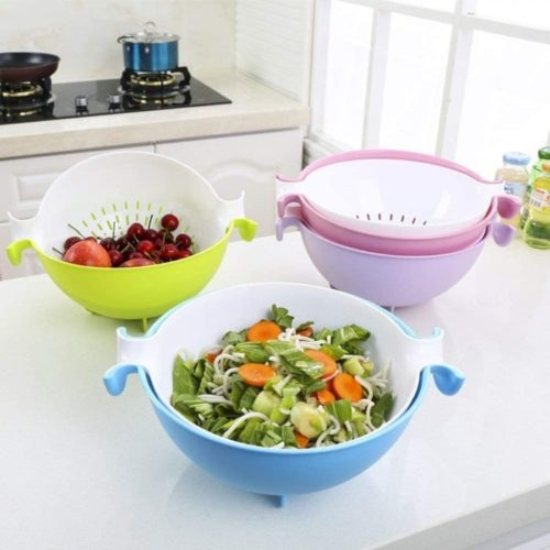 13. CHICHIC Pasta Strainer, Plastic Strainer, Plastic Colander, and Bowl for Fruits