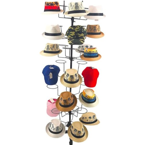 14. Buha Metal Hat Racks Stand with 7 Tier Displayer