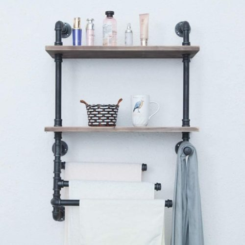14. GWH Bathroom Towel Storage Rack - Bring DIY Floating Shelf Ideas To Save Your Space