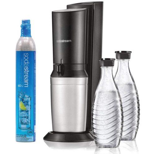 SodaStream Aqua Fizz Sparkling Water Soda Maker with Co2 and Glass