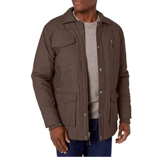 14. Wrangler Brown Coat for Men