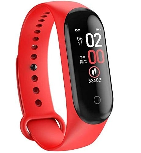 MDF M4 Waterproof Smart Band Health and Sport Band Fitness Tracker Watch with Blood Pressure and Heart Rate Monitor