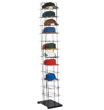 15. SSWBasics Black Floor Standing Hat Rack