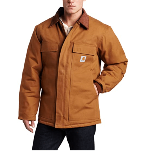 Carhartt Big and Tall Arctic Duck Lined Brown Coat - Traditional Brown Coat for Men