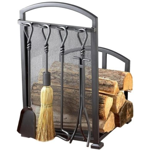 Muskoka Signature Fireplace Poker Set Series Matte Black - Wood Rack Fire Poker Tool