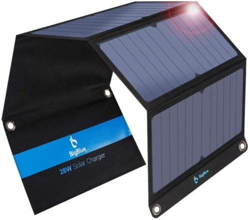 BigBlue Foldable LIT Solar Power Banks Panel, Portable Lit Power Bank