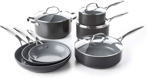 5. GreenPan Valencia Ceramic Nonstick Cookware Pots
