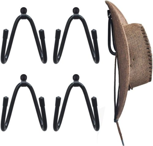 5. YYST Cowboy Wall Mounted Hat Rack Organizer