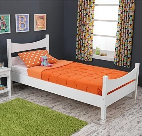 KidKraft Addison Wood White Twin Bed Frame with Headboard