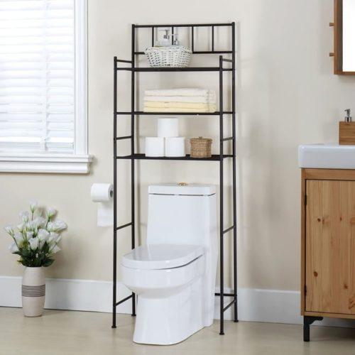 8. Finnhomy DIY Bathroom Towel Storage Ideas for Space Saver