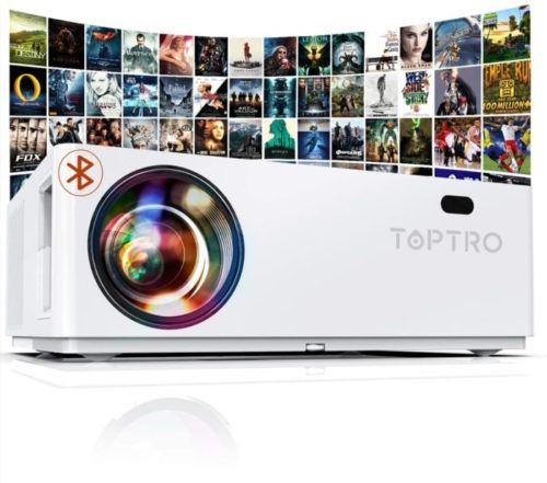 TOPTRO Bluetooth Home Theater Lux Video Ceiling Projector