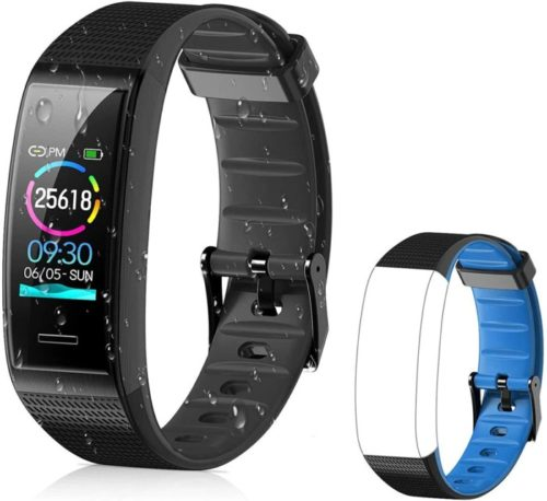 Tovendor Waterproof Smart Band, Activity Fitness Tracker with Extra Band Replacement, Blood Pressure for Men and Women