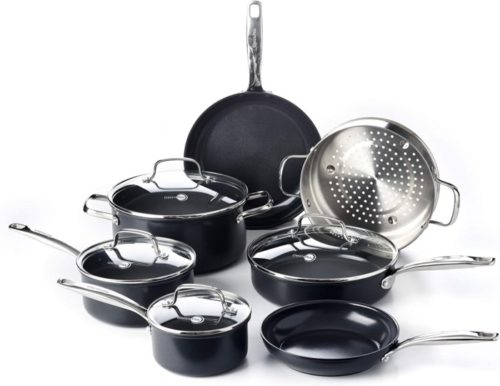 9. GreenPan Prime Cookware Pots and Pans Set