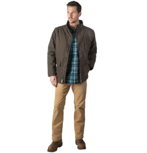 9. Walls Classic Zipper Brown Coat for Men