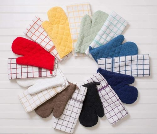 DII Quilted Terry Oven Cotton Heat Resistant Top Rated Hot Pads and Pot Holders