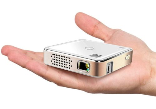 Kodak Mini Portable Support LED DLP Rechargeable Pico Best Projector Under 200 with Android and iPhone, Build-in Speaker