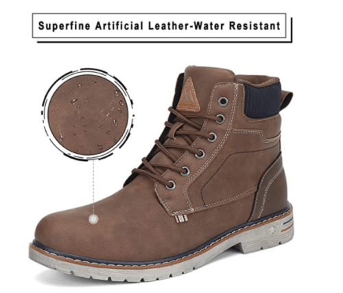 Mishansha Mid Hiking Outdoor Waterproof Women Work Boot with Non-Slip Ankle Leather