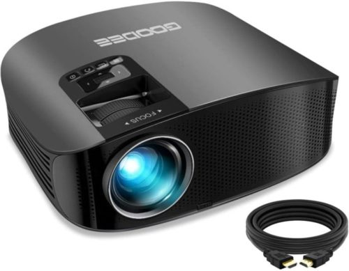 GooDee Projector Outdoor Movie Theater HD Best Projector Under 200