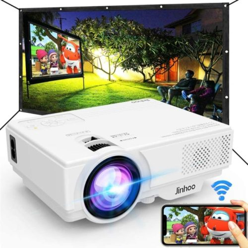 Jinhoo WiFi Mini Projector Screen with Support Synchronize Smartphone